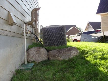 HVAC - tipping air conditioner