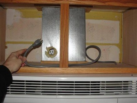 Hole in duct for outlet