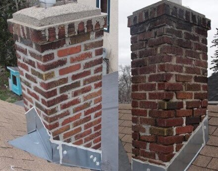 Yes, this is the same chimney on the same day!