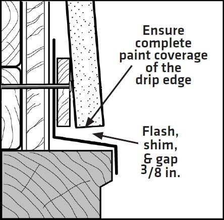 LP Smartside Diagram Clearance above window