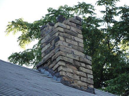 Missing b bricks at chimney
