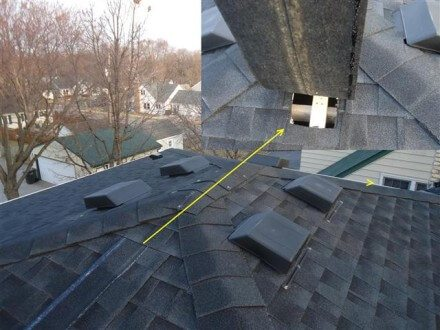 Missing roof vent