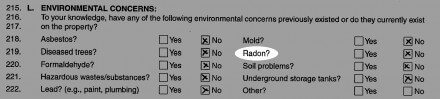 Old radon question