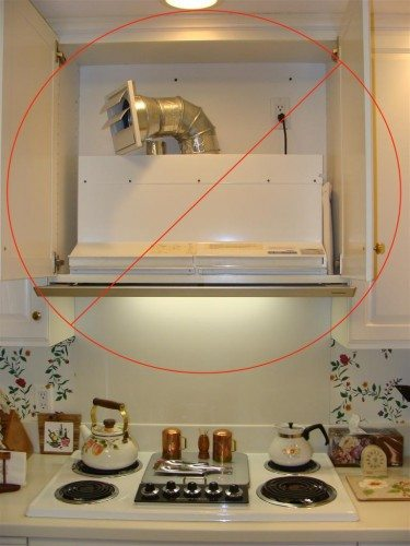 Recirculating kitchen fan surprise