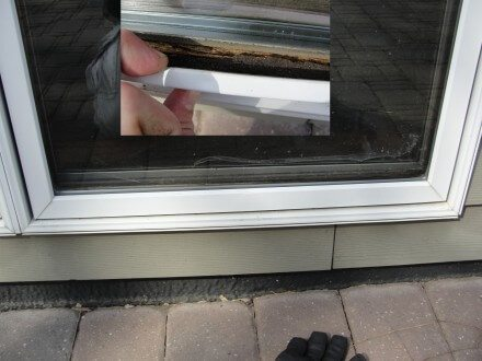 Rotted Aluminum Window