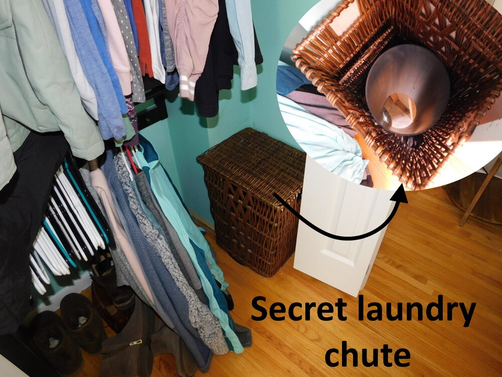 Now that's an awesome laundry chute.