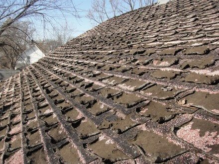 Severely Deteriorated Shingles