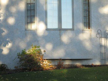 Stains below windows