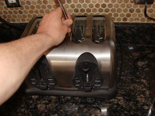 Fork in toaster