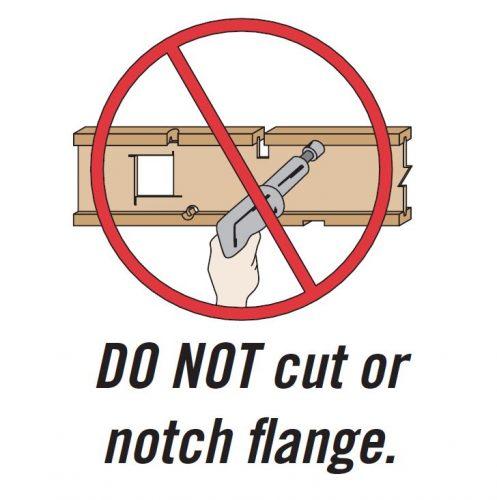 Don't cut flanges